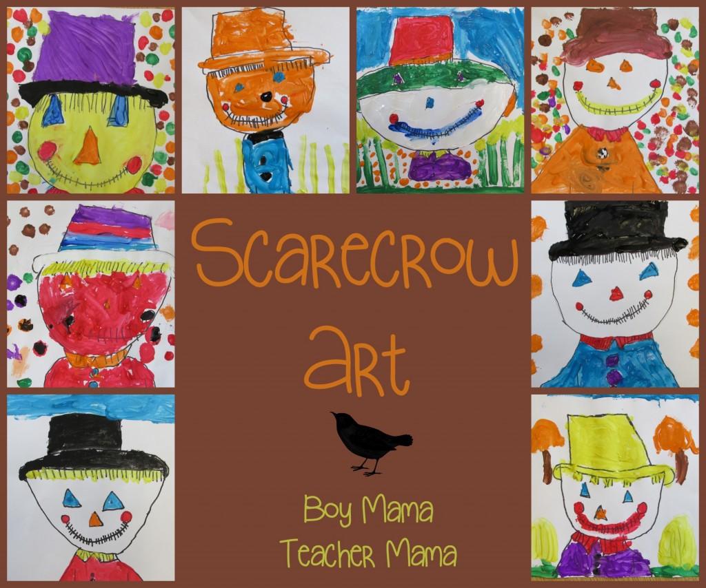 Boy Mama Teacher Mama  Scarecrow Art (featured)