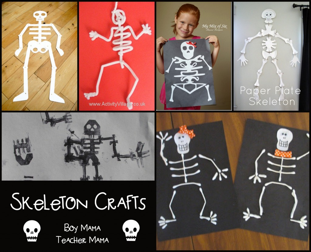 Boy Mama Teacher Mama  Skeleton Crafts