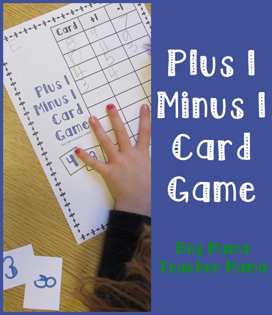 Boy Mama Teacher Mama  Plus 1 Minus 1 Card Game (featured)