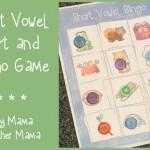 Boy Mama Teacher Mama  Short Vowel Sort and Bingo Game (featured)
