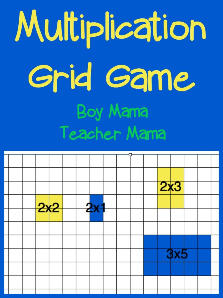 Boy mama multiplication grid game after school linky - Multiplication table games online free ...