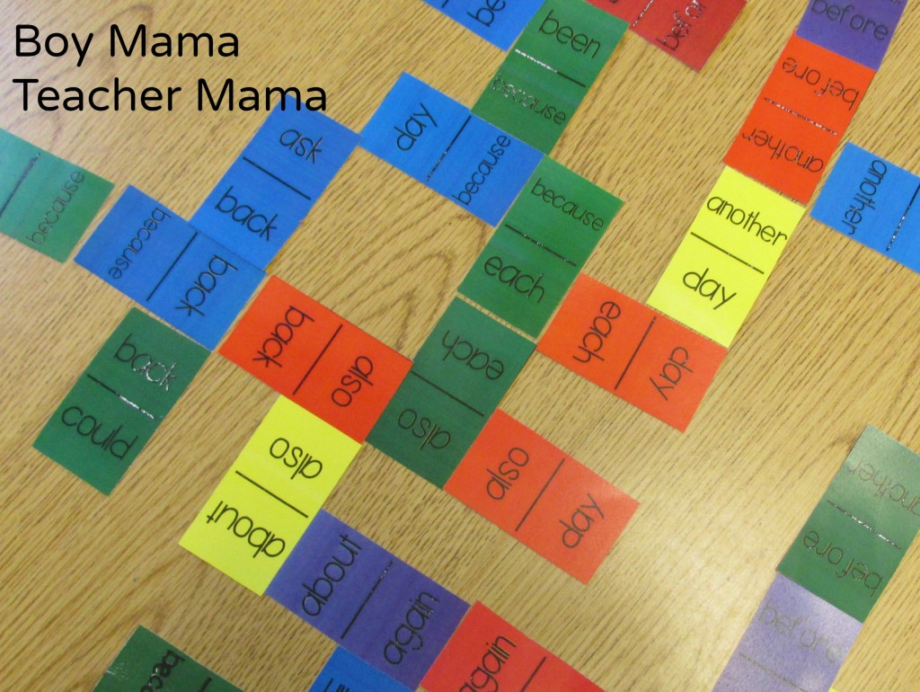 Boy Mama Teacher Mama  Sight Word Dominoes