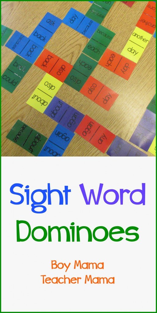 3 Sight  Dominoes Word Mama Mama sight Boy dominoes Teacher printable word