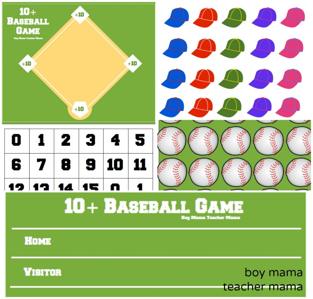 Boy Mama Teacher Mama  +10 Baseball Game