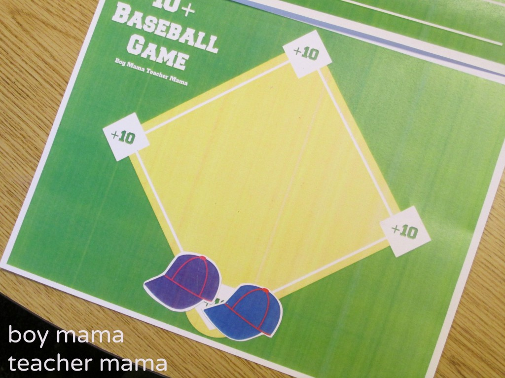 Boy Mama Teacher Mama  +10 Baseball Math 4