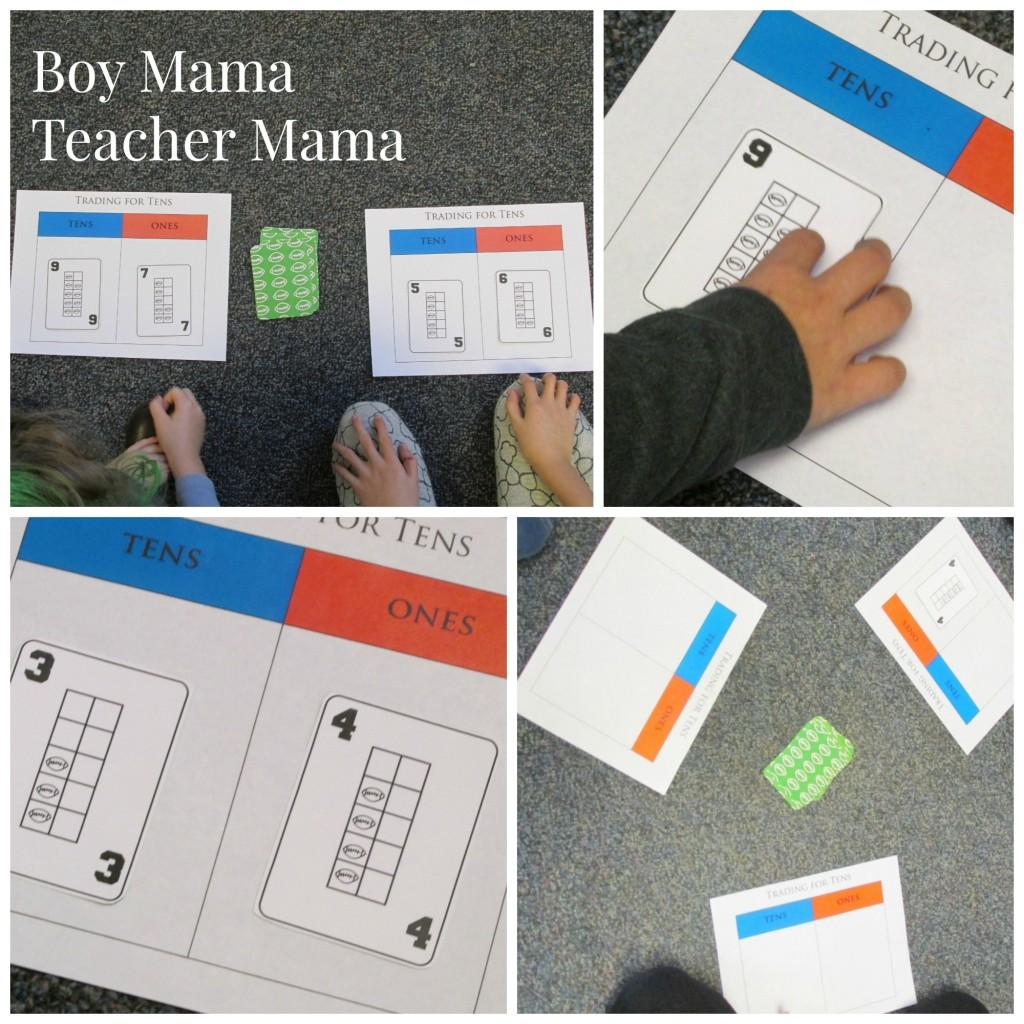 Boy Mama Teacher Mama  FREE Football Ten Frame Cards 2