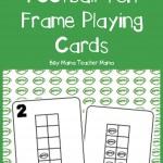 Boy Mama Teacher Mama  FREE Football Ten Frame Playing Cards