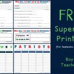 Boy Mama Teacher Mama  FREE Superbowl Printables (featured)