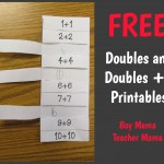 Boy Mama Teacher Mama  FREE Doubles and Doubles +1 Printables  (featured)