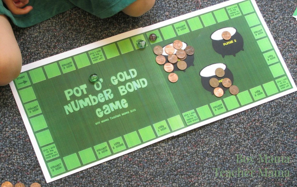Boy Mama Teacher Mama Pot O' Gold Number Bond Game 2