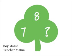Boy Mama Teacher Mama Pot O' Gold Number Bond Game
