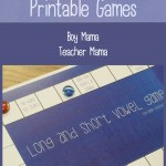 Boy Mama Teacher Mama  Short and Long Vowel Printable Games (featured)