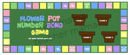 Boy Mama Teacher Mama  Flower Pot Number Bond Game