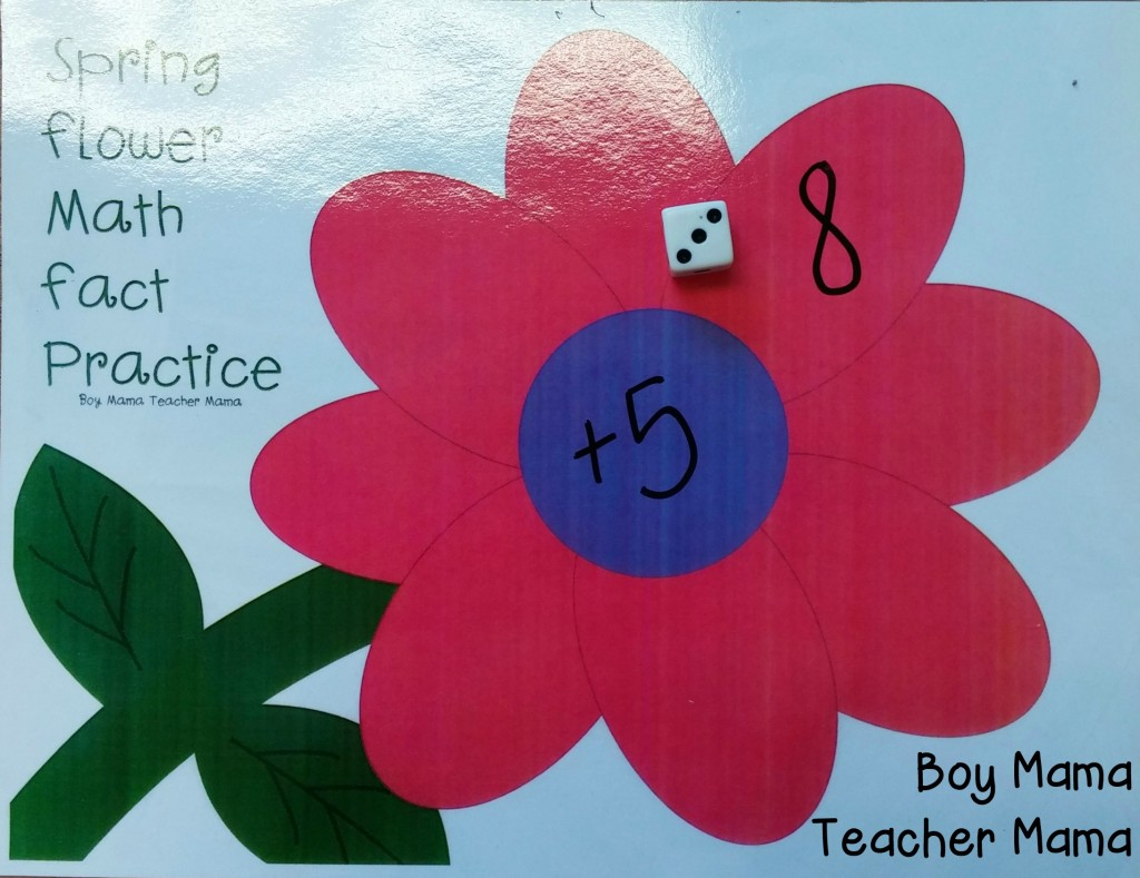 Boy Mama Teacher Mama  Spring Flower Math Fact Practice