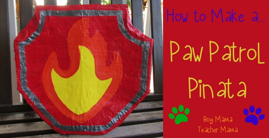 Boy Mama Teacher Mama  Paw Patrol Pinata (featured)