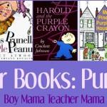 Boy Mama Teacher Mama  Color Books Purple