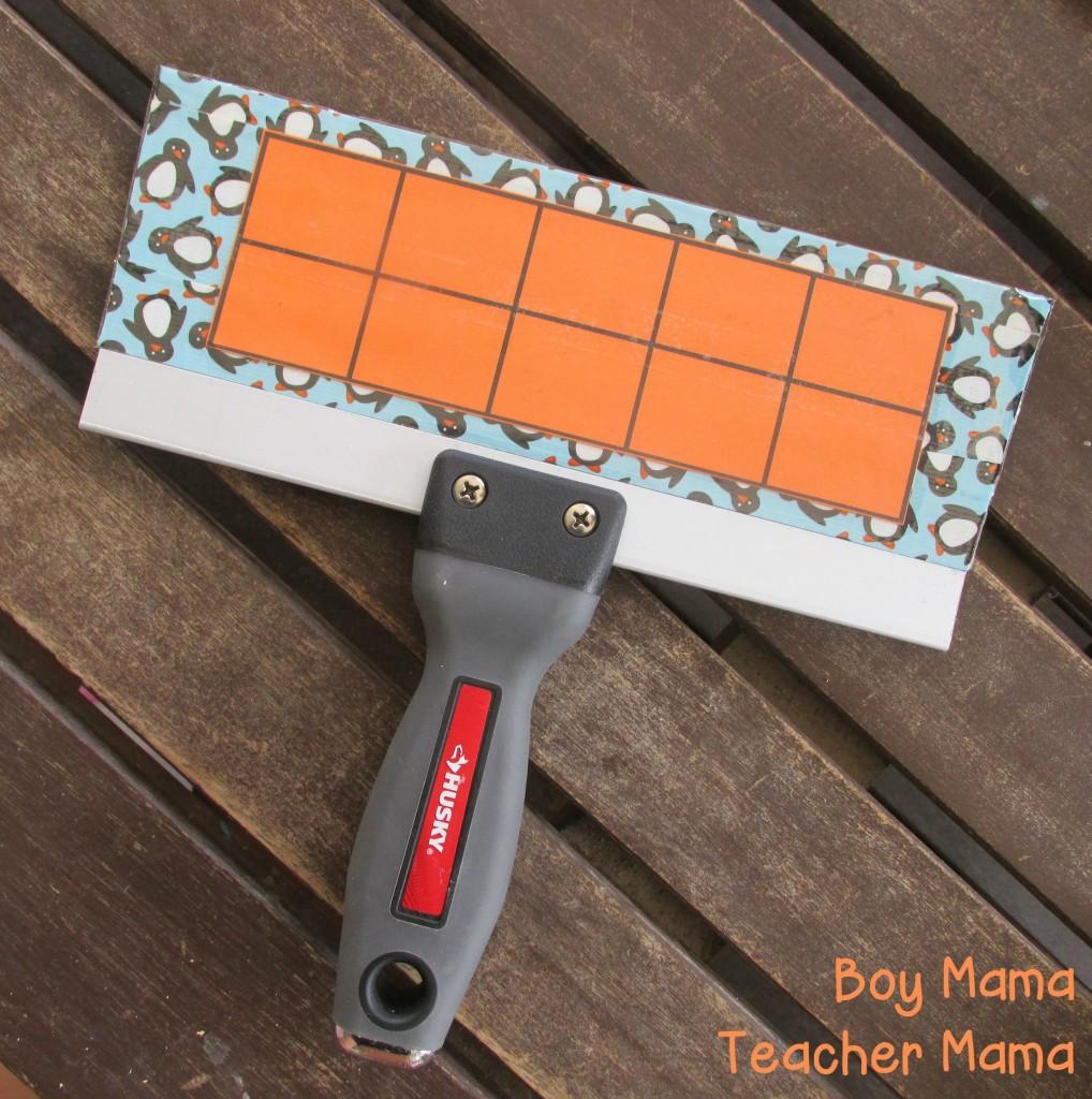 Boy Mama Teacher Mama  Homemade Ten Frame Board 3