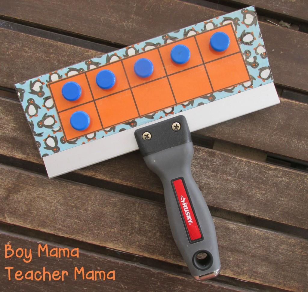 Boy Mama Teacher Mama  Homemade ten frame board 4