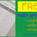 Boy Mama Teacher Mama  FREE math printable