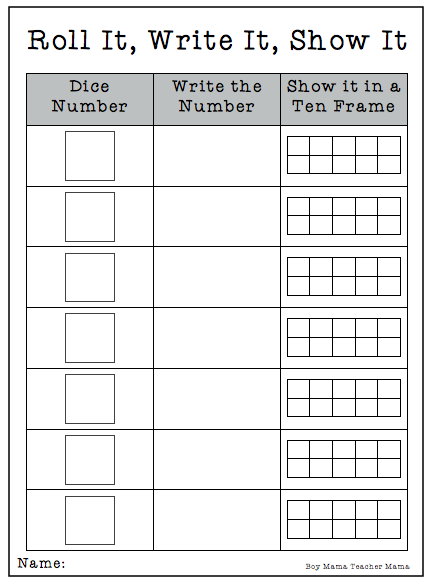 Common Worksheets u00bb Free Printable Ten Frames - Preschool ...