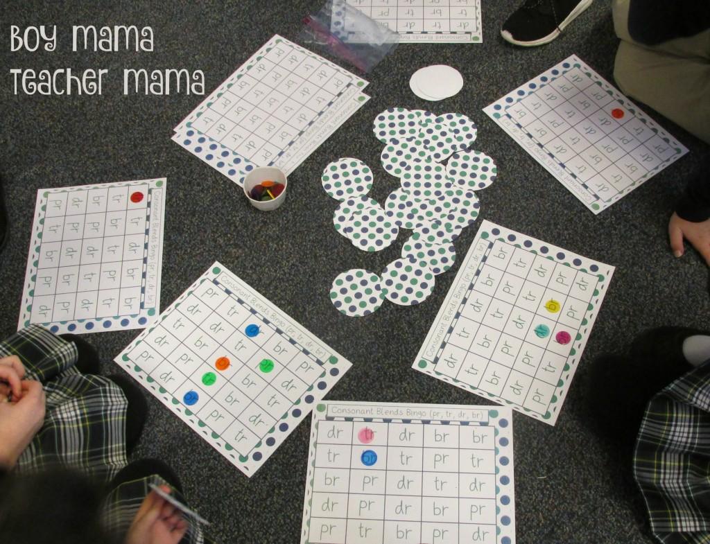 Boy Mama Teacher Mama Consonant Blends Bingo