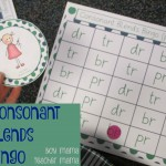 Boy Mama Teacher Mama  Consonant Blends Bingo (featured)