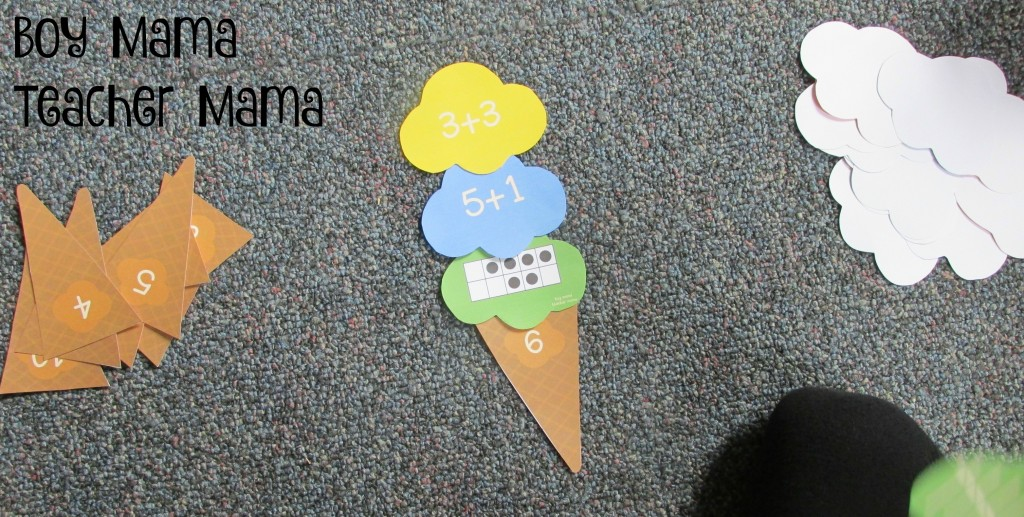Boy Mama Teacher Mama Ice Cream Cone Number Sense Game (2)
