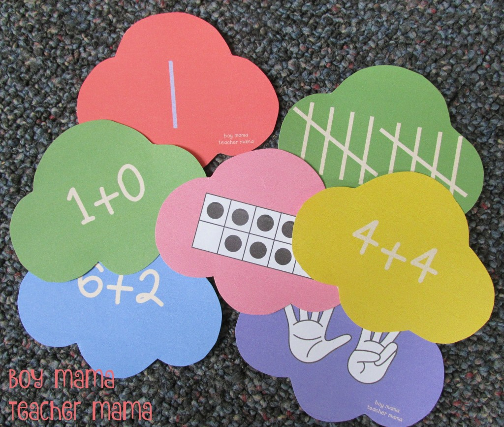 Boy Mama Teacher Mama Number Sense Ice Cream Game