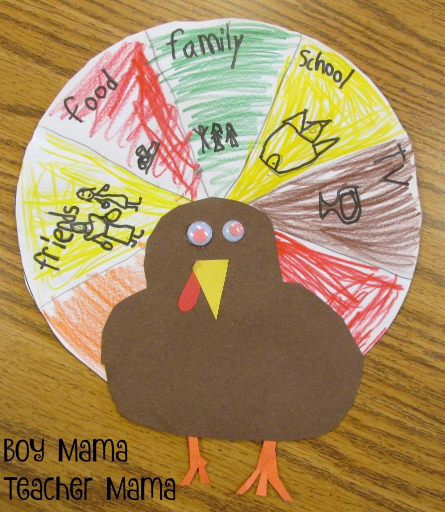 Boy Mama Teacher Mama Thankful Turkey 3