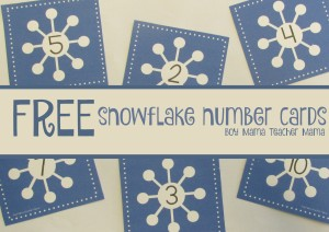Boy Mama Teacher Mama FREE Snowflake Number Cards (featured)