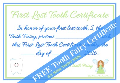 Boy Mama Teacher Mama FREE Tooth Fairy Certificate (featured)