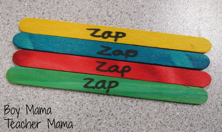 Boy Mama Teacher Mama Zap it! A Game for Teaching Math Facts 2
