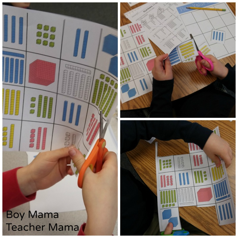 Boy Mama Teacher Mama Place Value Bingo