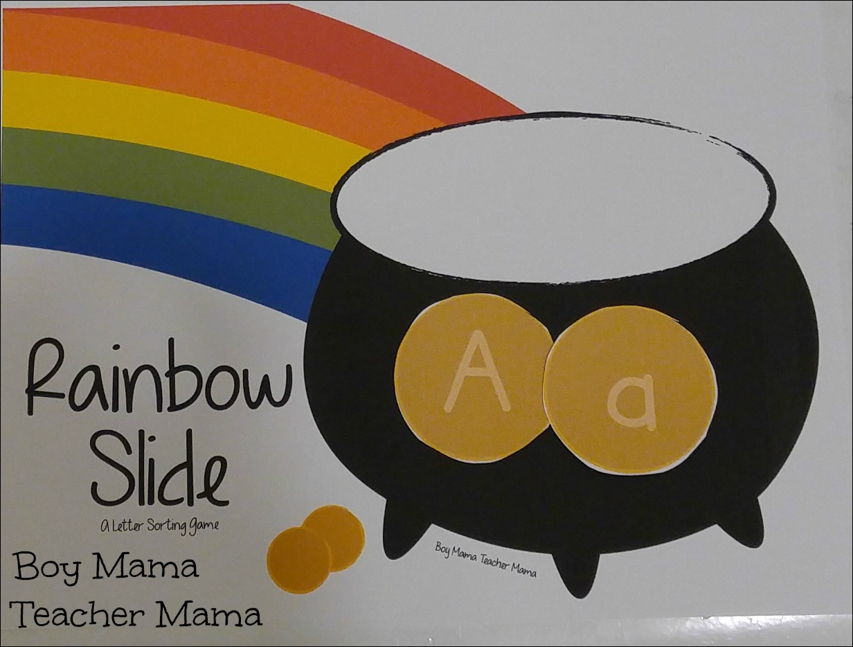 Boy Mama Teacher Mama Rainbow Slide 1