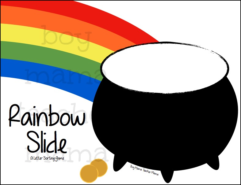 FREE Rainbow Slide Letter Sorting Game 2
