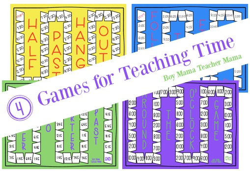 4 Games for Teaching Time 2