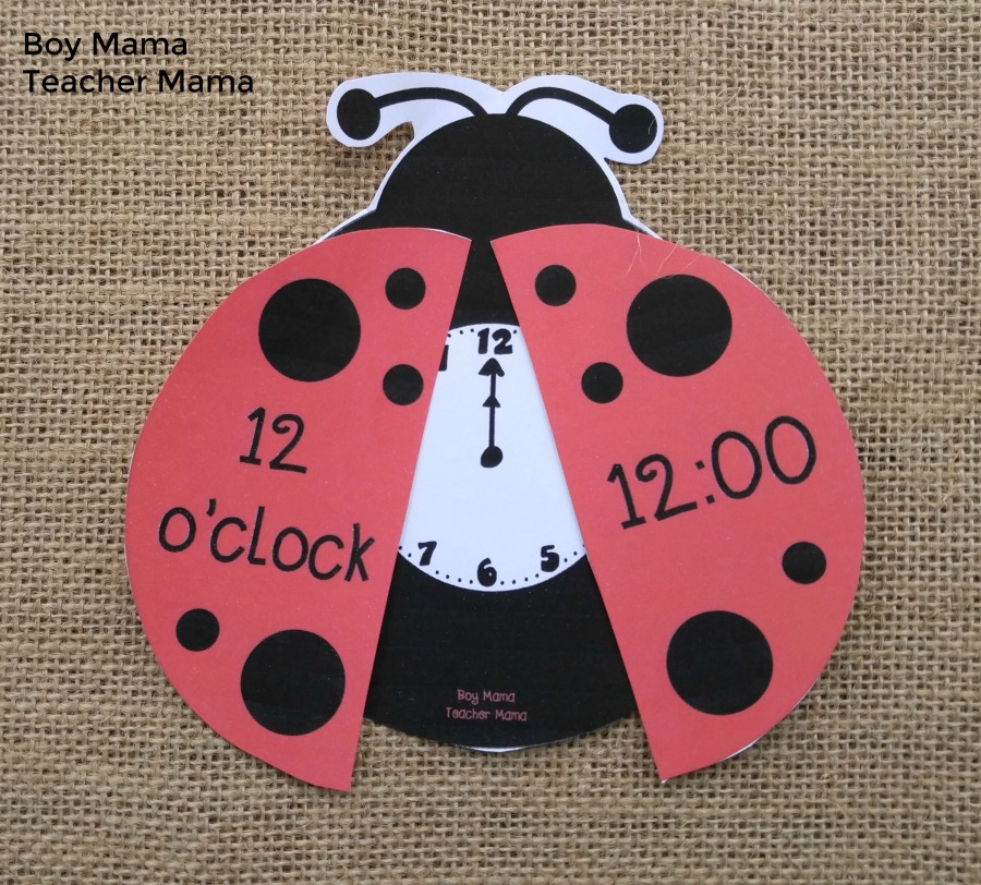 Boy Mama Teacher Mama O'Clock Lady bug Game