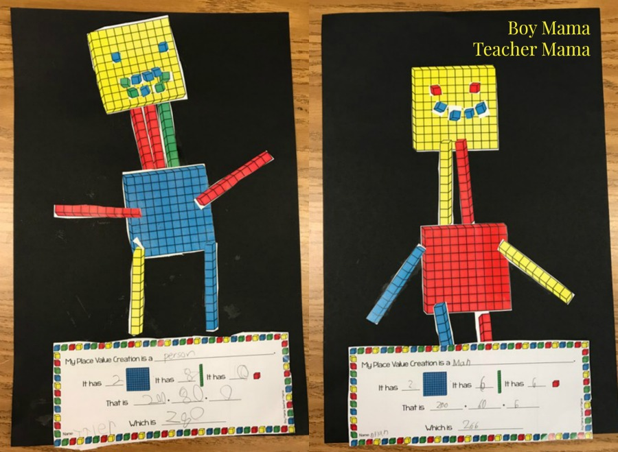 free base ten blocks creations  a place value activity