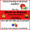 Boy Mama: Back to School Lunch Box Riddles Printable