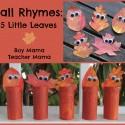 Boy Mama: Fall Rhymes: 5 Little Leaves