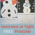 Teacher Mama:  Snowmen at Night FREE Printable {After School Linky}