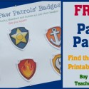 Boy Mama: FREE Paw Patrol Find the Badge Printable Game