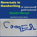 Boy Mama Teacher Mama | Reversals in Handwriting