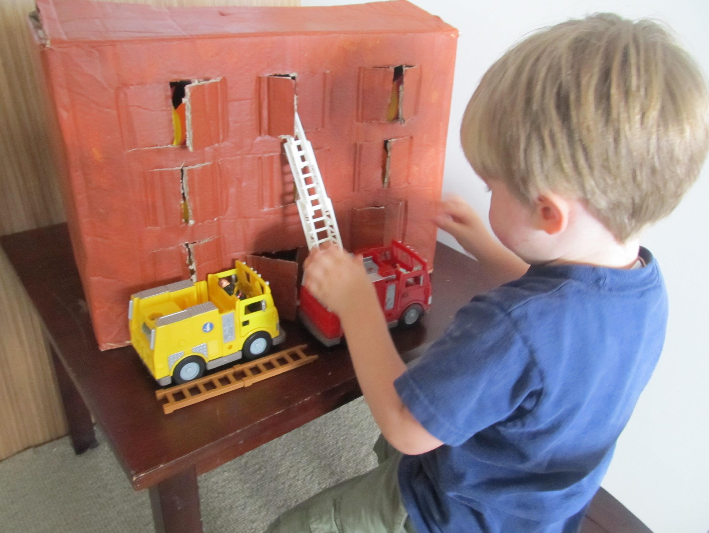 Cardboard Box Use #2,490 (A Burning Building)