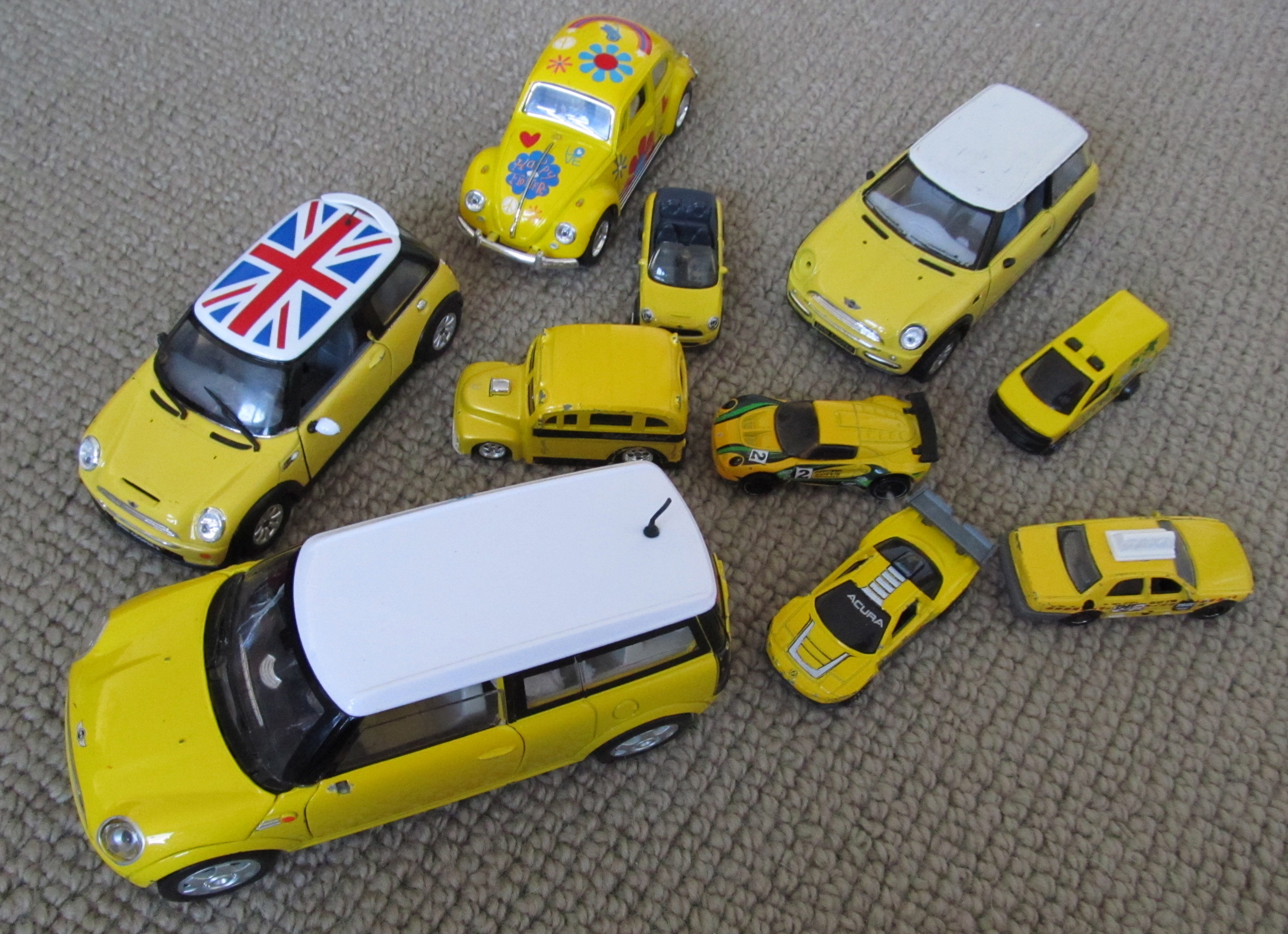 Traffic Jam of Yellow Cars