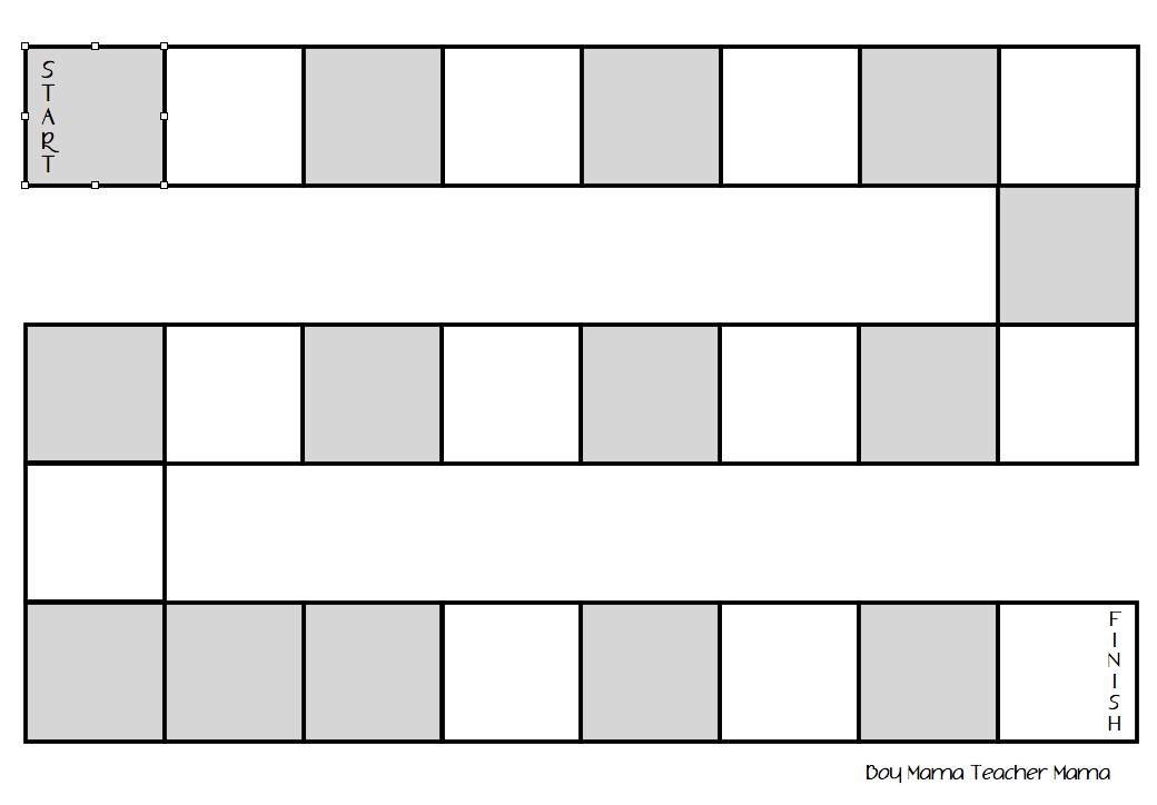 This is a photo of Shocking Free Printable Board Game Template