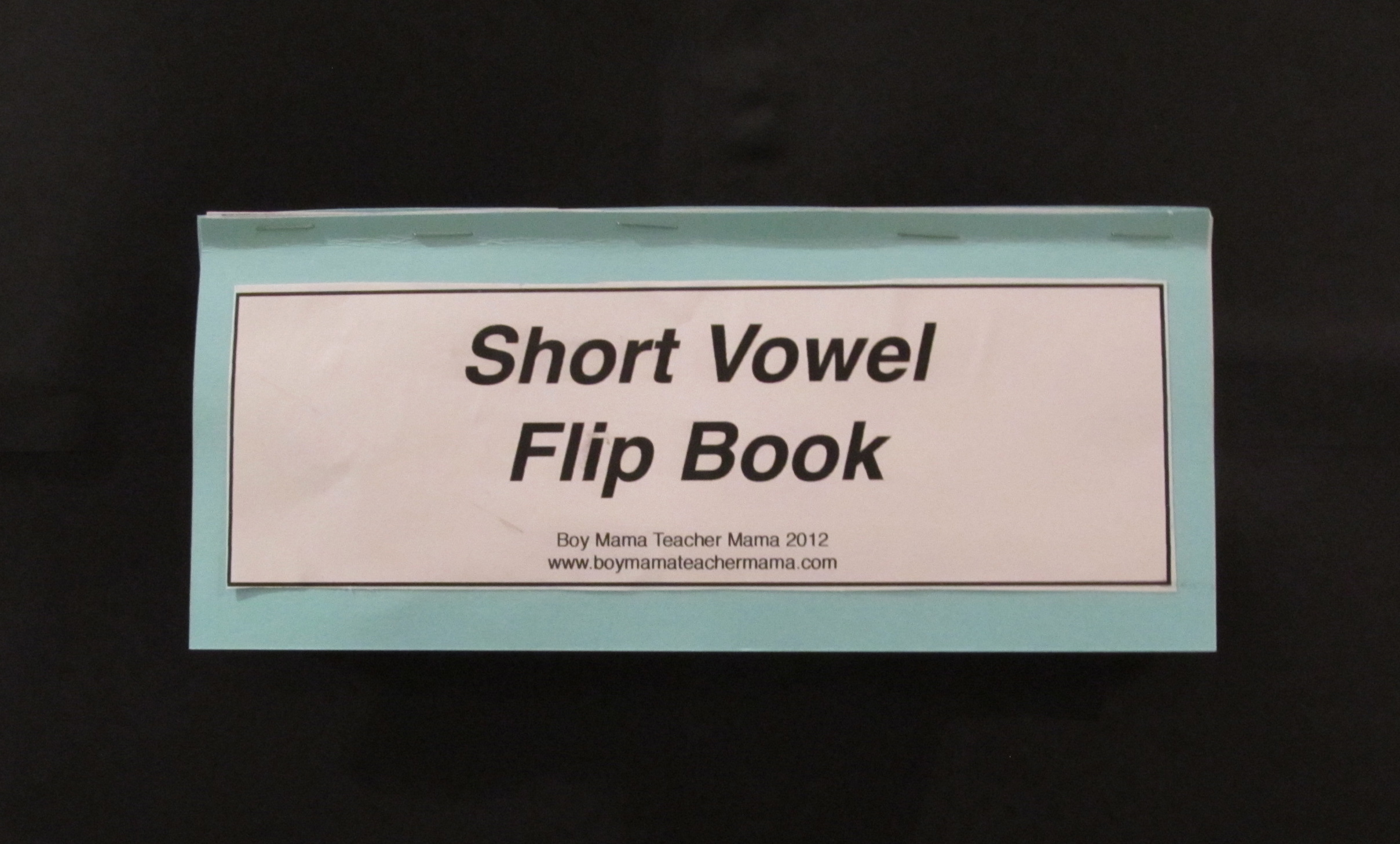 Short Vowel Flip Book Cover and Complete