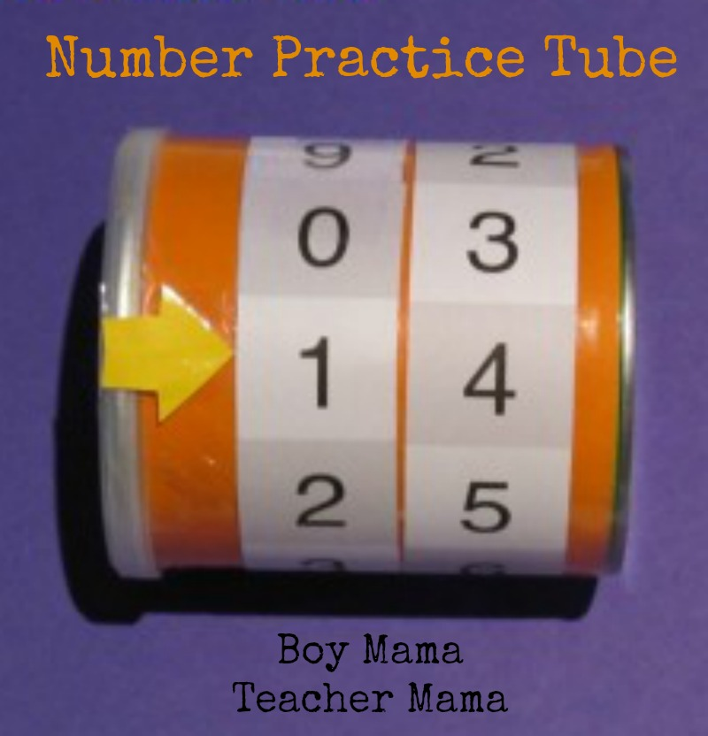Boy Mama Teacher Mama  Number Practice Tube