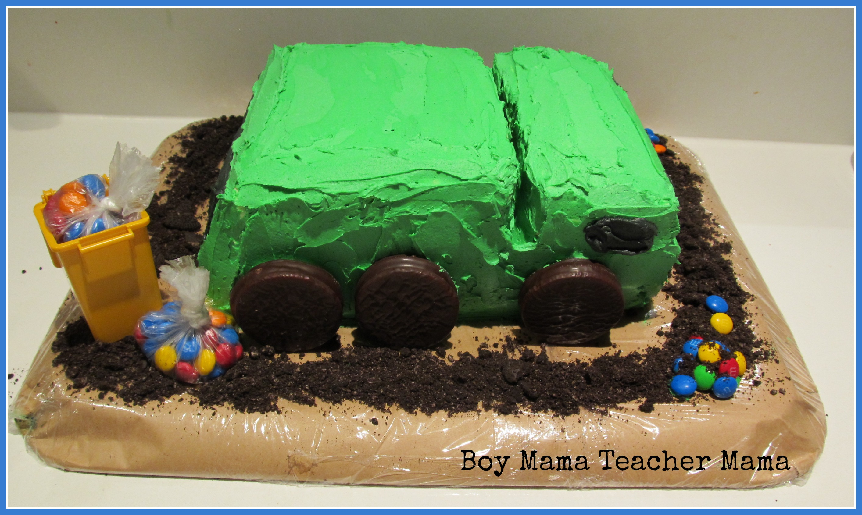 Admirable Boy Mama A Trashy Celebration A Garbage Truck Birthday Party Personalised Birthday Cards Veneteletsinfo