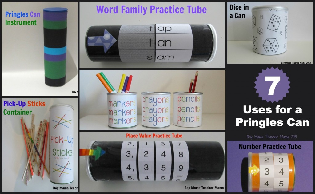 boy mama teacher mama: 7 uses for a pringles can